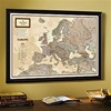 National Geographic Earth-tone Map of Europe - Framed & Personalized (Optional)