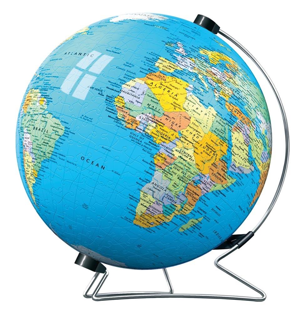 540 Piece World Globe 3D Puzzleball On Stand