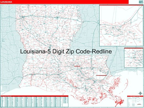 Louisiana Zip Code Map From OnlyGlobes