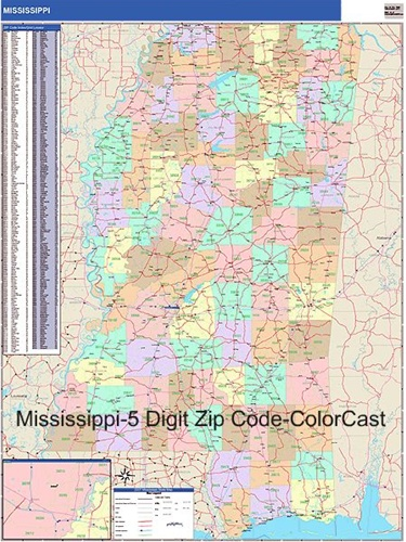 Mississippi Zip Code Map From OnlyGlobes