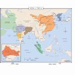 Map of Asia, C. 413-750 CE